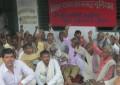 मंहगाई एवं भ्रष्टाचार के खिलाफ भाकपा का प्रखंड कार्यालय पर धरना