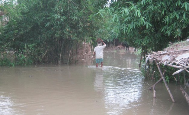 बड़हिया प्रखंड में बाढ़ की स्थिति हुई गंभीर