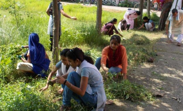 महिला कालेज की एनएसएस कार्यकर्ताओं ने चलाया स्वच्छता अभियान बड़हिया।निज संवाददाता