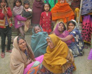 ऐजनी पंचायत के जानपुर ग्राम में दुष्कर्म के बाद गंड़ासे से वार कर महिला की हत्या